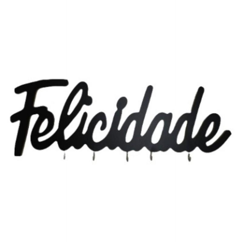 PORTA CHAVE FELICIDADE # MDF5654