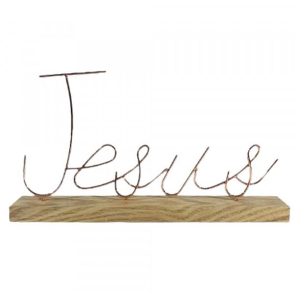 JESUS METAL 36X5X19.7CM # 98516