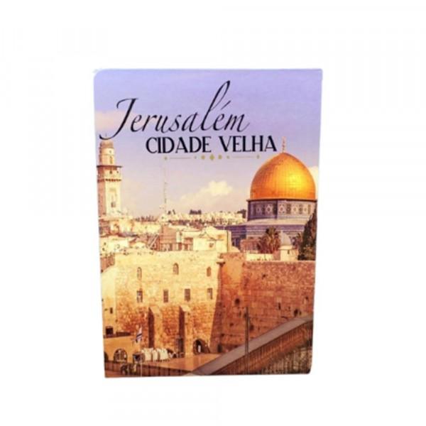 CAIXA LIVRO JERUSALEM 20X16X5CM # 61286