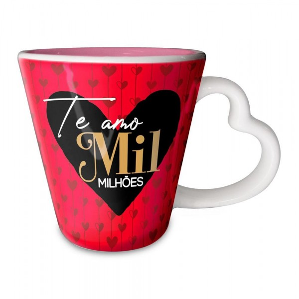 CANECA CORACAO TE AMO MIL MILHOES # CAN-1078