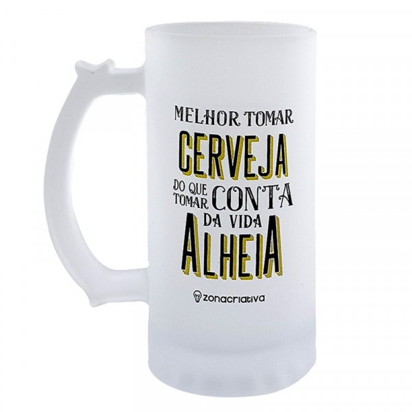 CANECA CHOP MELHOR TOMAR CERVEJA 450ML  #10022959